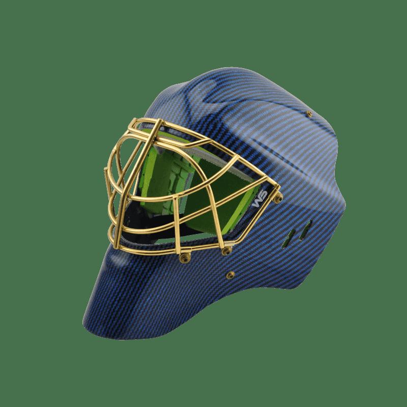 Eishockey Maske Goalie blau